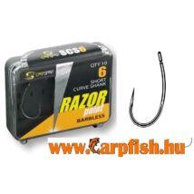 Carp Spirit Razor short Curve shank Barbless Szakáll nélküli horog 10 db/csmg