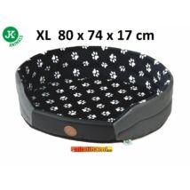 JK fekete tappancsos kutyaágy  XL