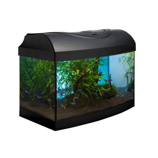 Diversa íves 25 l akvárium szett fekete és bükk színben