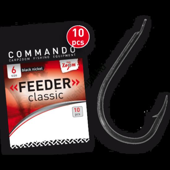 CarpZoom Commando Feeder Classic horog   10 db/csomag