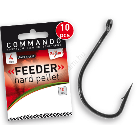 CarpZoom Commando Feeder Hard Pellet  horog  10 db/csomag