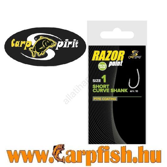 Carp  Spirit Razor Short Curve Shank horog 10db/csmg