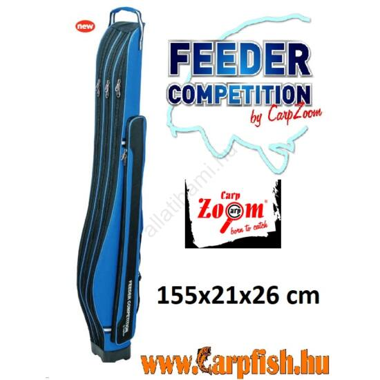 Carp Zoom Feeder Competition Három fakkos merev bottartó táska 155x21x26 cm