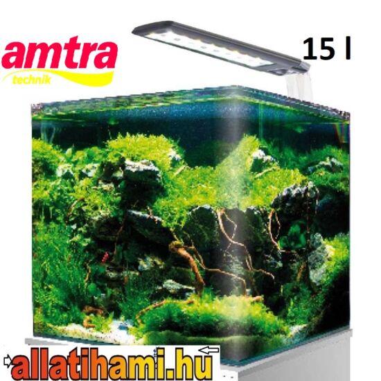 Amtra Nano Tank 15 - 15 literes Nano Aquarium  világítással és szűrővel együtt