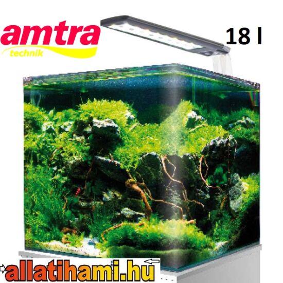 Amtra Nano Tank  Cube  20 – 18 literes Nano Aquarium  világítással és szűrővel
