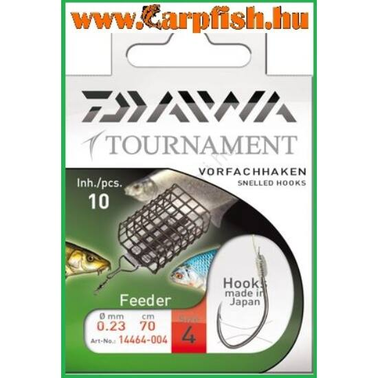 DAIWA TOURNAMENT feeder kötözött horog ezüst - 8-as
