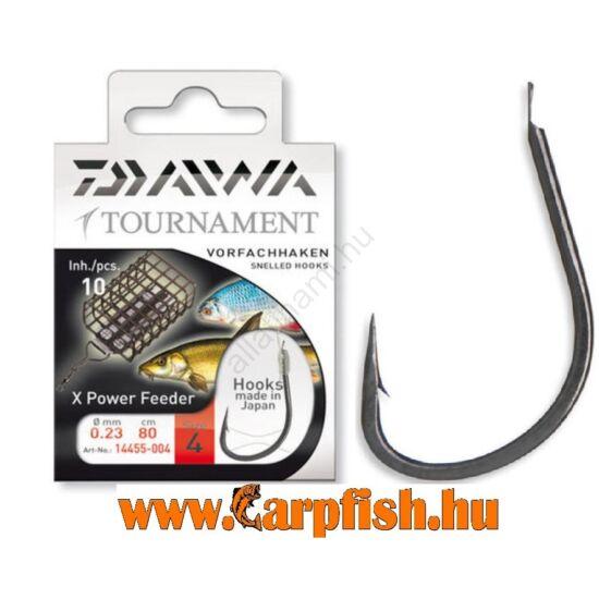 Daiwa Tournament X Power Feeder Snelled Hooks előkötött horog - FEEDER  10db/csmg