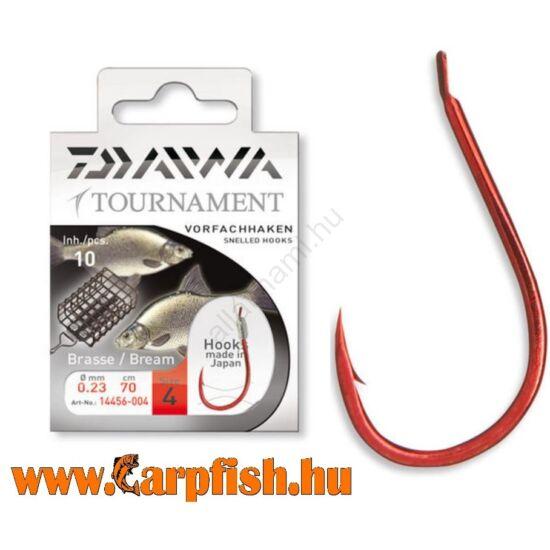 Daiwa Tournament X Power Brassen/Feeder Snelled Hooks előkötött horog - DÉVÉRES  10 db/csmg
