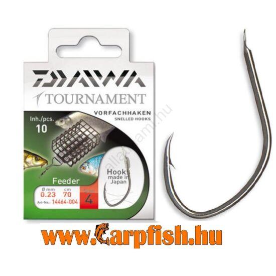 Daiwa Tournament FEEDER Snelled Hooks előkötött horog – FEEDERES 10 db/csmg