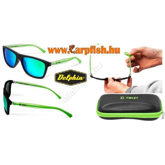 Delphin SG TWIST Polarizált napszemüveg  zöld lencsével