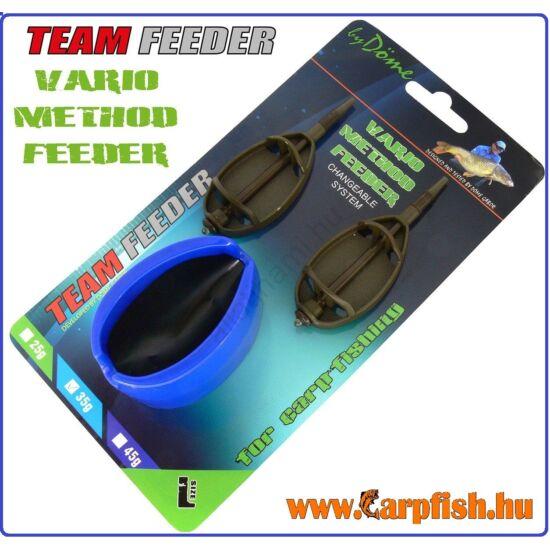 By Döme TEAM FEEDER Vario Method Feeder kosár 2+1 szett L 35 g