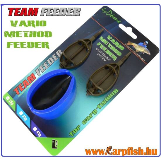 By Döme TEAM FEEDER Vario Method Feeder kosár 2+1 szett L 25 g