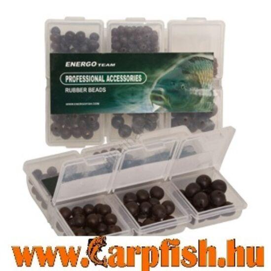 Energo Team gumigyöngy készlet fekete 6 féle kemény+puha