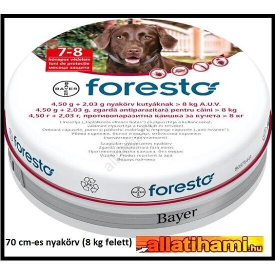 Foresto repellens kullancs- és bolhanyakörv kutyáknak  70 cm-es  8 kg felett