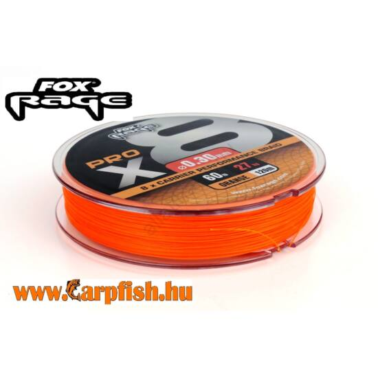 Fox Rage Pro X8 Braid Fluo Orange 120 m