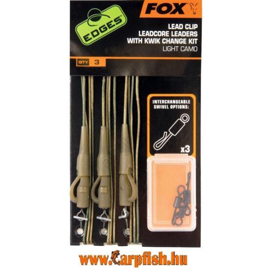 Fox  Leadcore + Leadclip + Kwick Change Light Camo Végszerelék