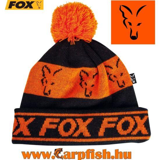 Fox  Lined Bobble Black&Orange sapka (CPR991)