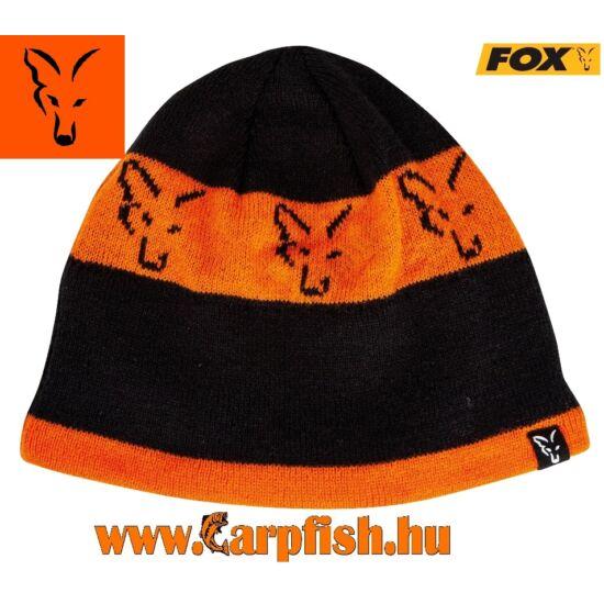 Fox Black & Orange Beanie kötött sapka (CPR993)