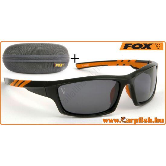 Fox Napszemüveg Fekete Orange Keret / Szürke Lencse