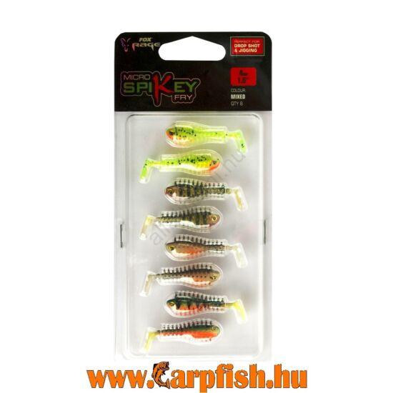 Fox Rage Micro Spikey 4cm -8db / csomag vegyes színek