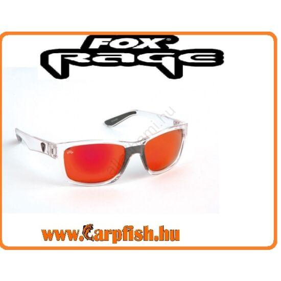 FOX Rage Sunglasses Clear Frame - Mirror Red Lense polar napszemüveg