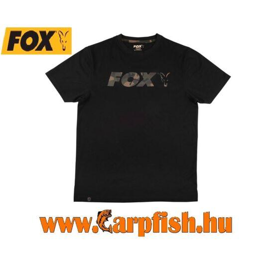 Fox fekete/Camo mell nyomattal ellátott póló