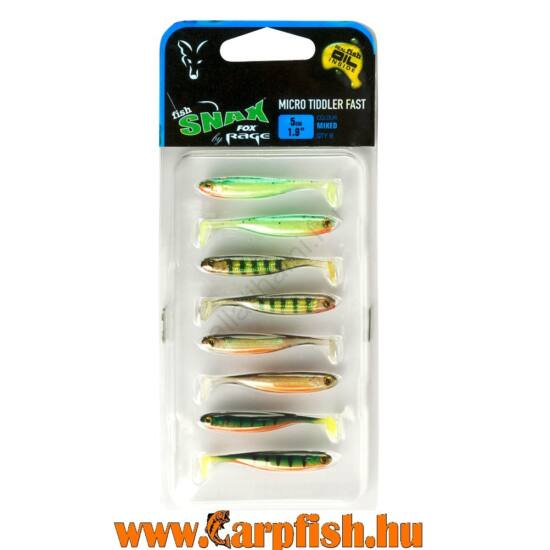 Fox Rage Micro Tiddler fast 5cm - 6db / csomag vegyes színek