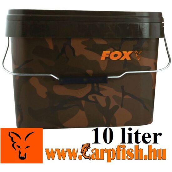Fox Camo Square Bucket terepmintás vödör 10 liter