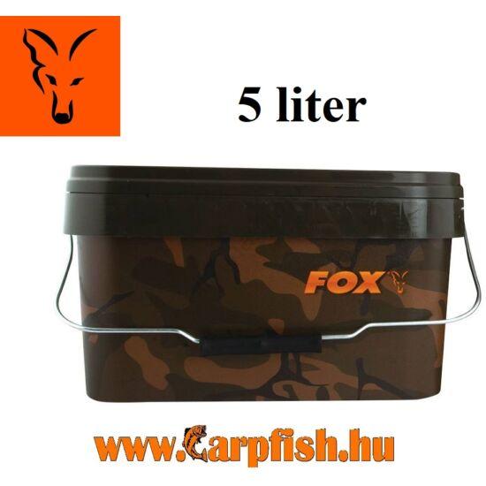 Fox Camo Square Bucket terepmintás vödör 5 liter