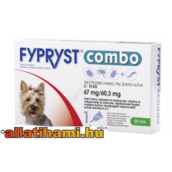 Fypryst Combo  S Kullancs -és bolhaírtó csepp kutyáknak 2-10 kg  0,67 ml