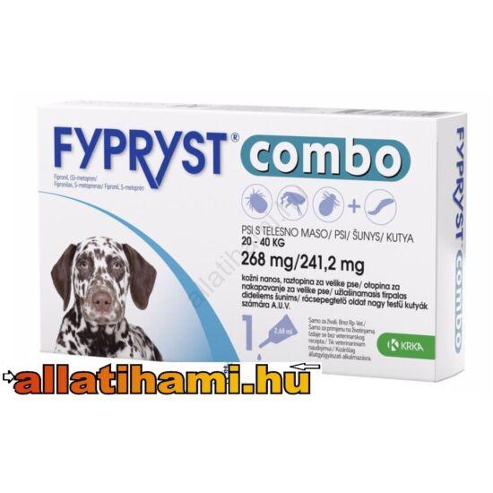 Fypryst Combo L Kullancs -és bolhaírtó csepp kutyáknak 20-40 kg 2,68 ml