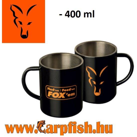 Fox Stainless Steel Mug rozsdamentes bögre  400 ml