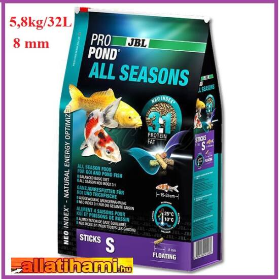 JBL ProPond All Seasons tavihaltáp  S - 5,8kg/32L
