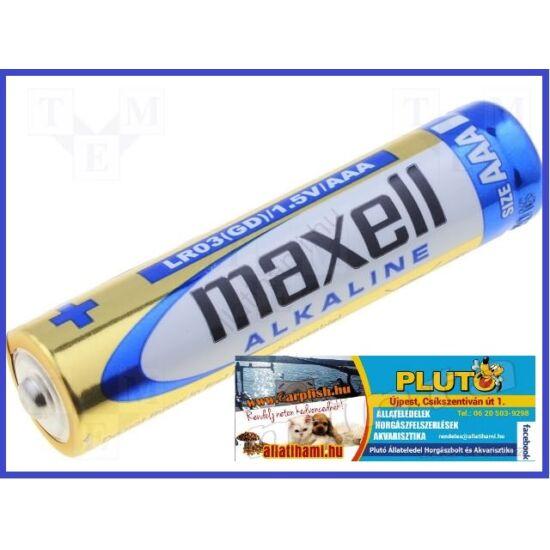 Maxell Alkaline AAA mini ceruza elem  1,5 V