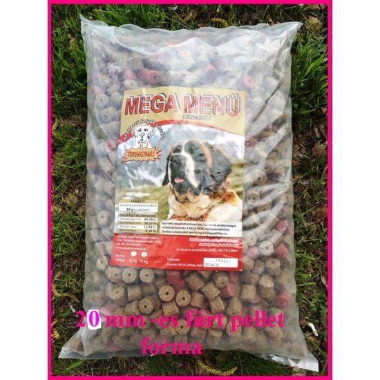 Megamenű fúrt fokhagyma ízű kutyatáp  nagy (20mm)15 kg