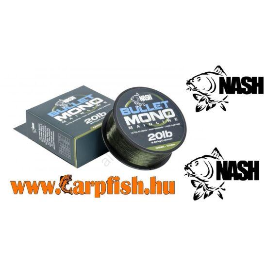 Nash Bullet Mono Green monofil zsínór 1000 m  zöld