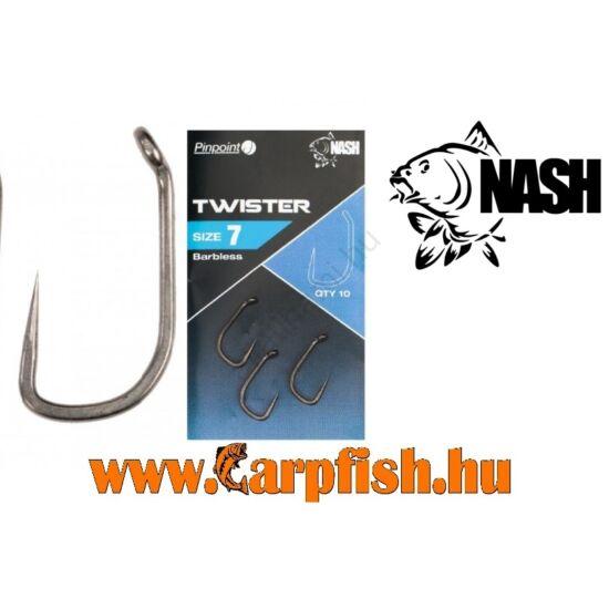 Nash TWISTER  barbless(szakállnélküli) horog