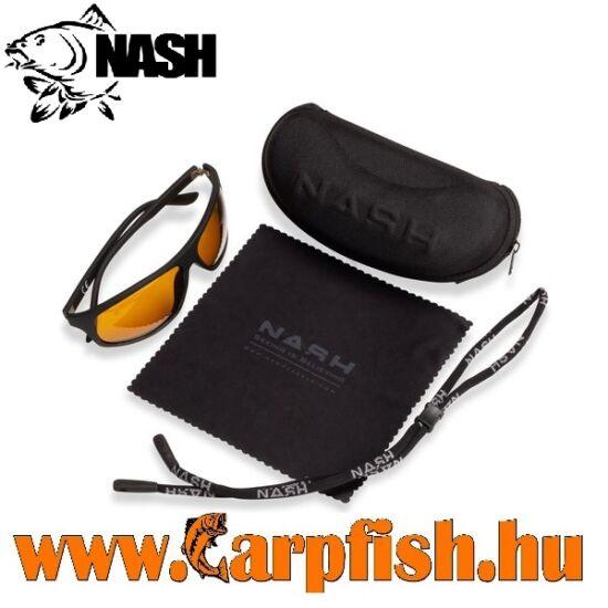 Nash Black Wraps with Yellow Lenses Napszemüveg
