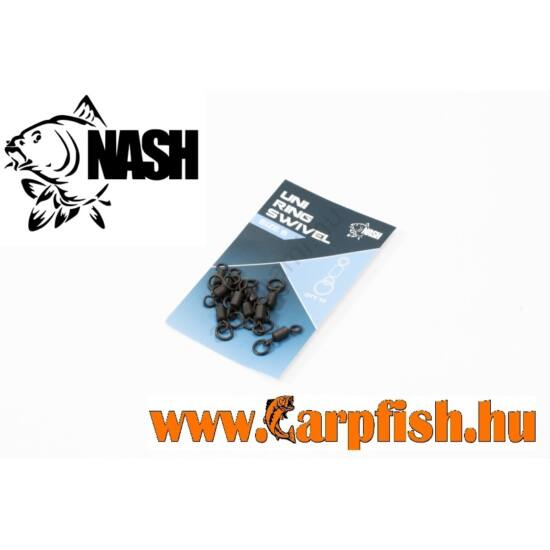 Nash UNI RING SWIVEL 8-as nagy karikás forgó 10 db/csmg