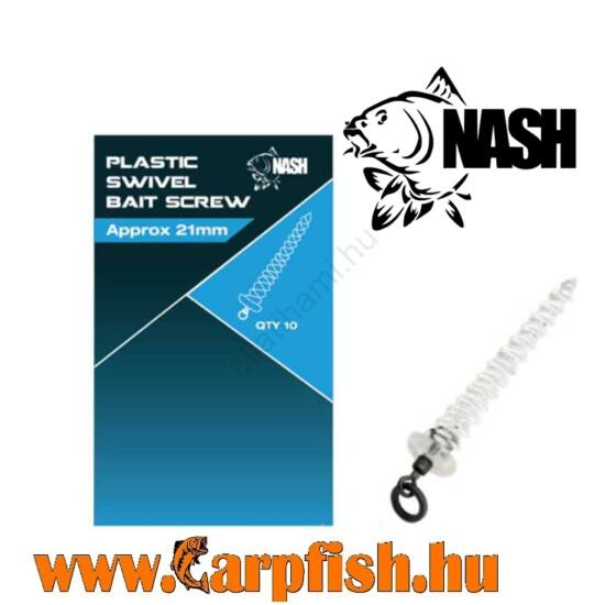 Nash Plastic Swivel Bait Screw 8mm Műanyag Csalitüske