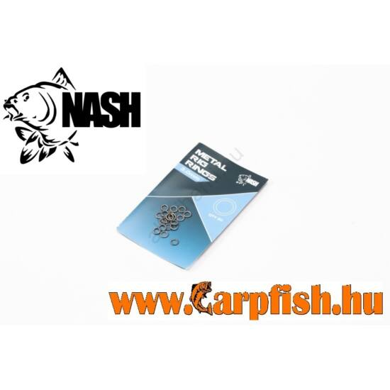Nash Metal Rig Rings fémkarika 20 db/csmg