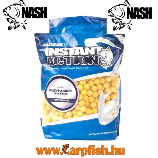 Nash Instant Action Boilies Pineapple Crush Bojli  1kg / 15 mm