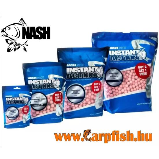 Nash Instant Action Strawberry Crush Boilies 12mm/1kg