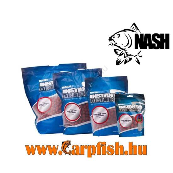 Nashi Instant Action  Squid and Krill Boilies  20 mm  1 kg