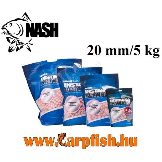 Nash Instant Action Strawberry Crush Etető Bojli 20 mm /5 kg