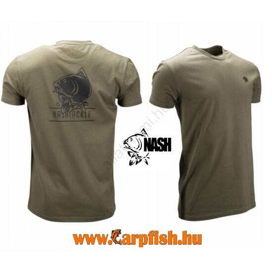 Nash Tackle T-Shirt Green zöld poló