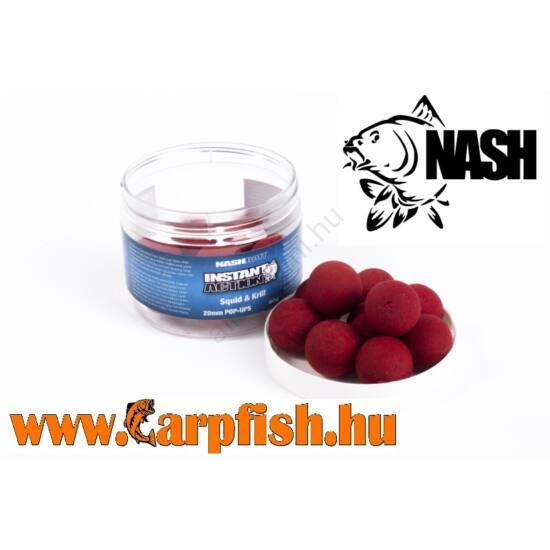 Nash Instant Action Squid and Krill Pop ups  12mm/30 gr