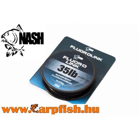 Nash Fluorolink Fluorocarbon Zsinór 20m/0,40mm/15lb