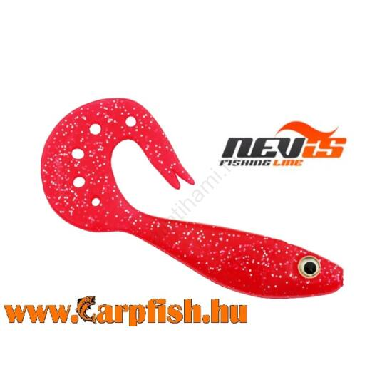Nevis Twister Shad Vantage 9cm 3db/cs /piros-csillám