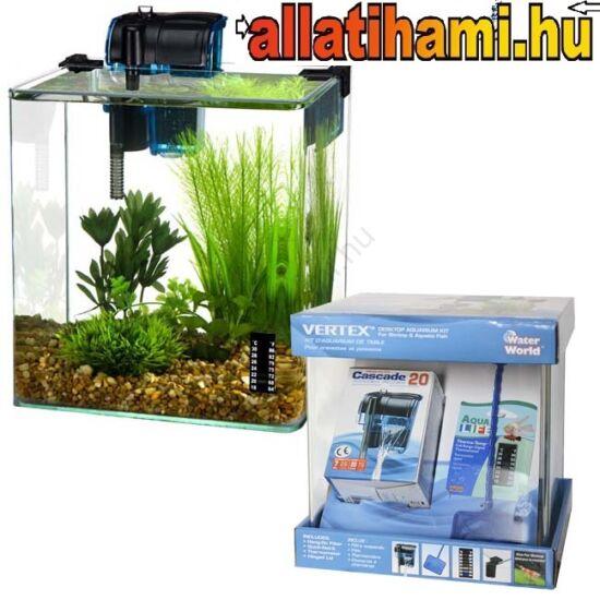 PENN PLAX VERTEX íves üveg akvárium szett 10l
